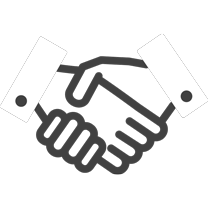 Hand shake animated icon